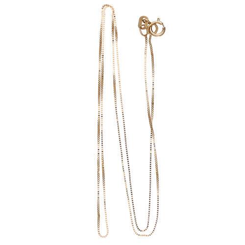 Box chain 18-carat yellow gold 16 1/2 in 2