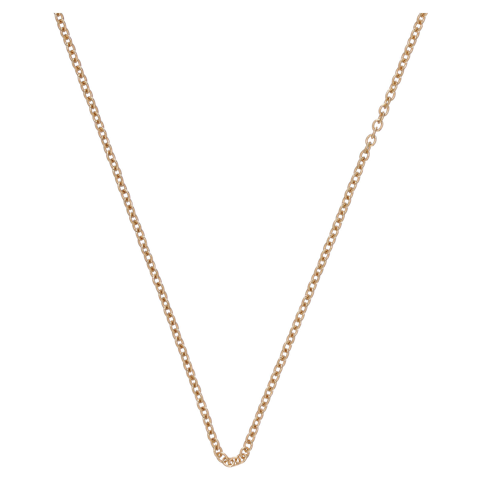 Rolo chain 750/00 yellow polished gold 15 3/4 in 4