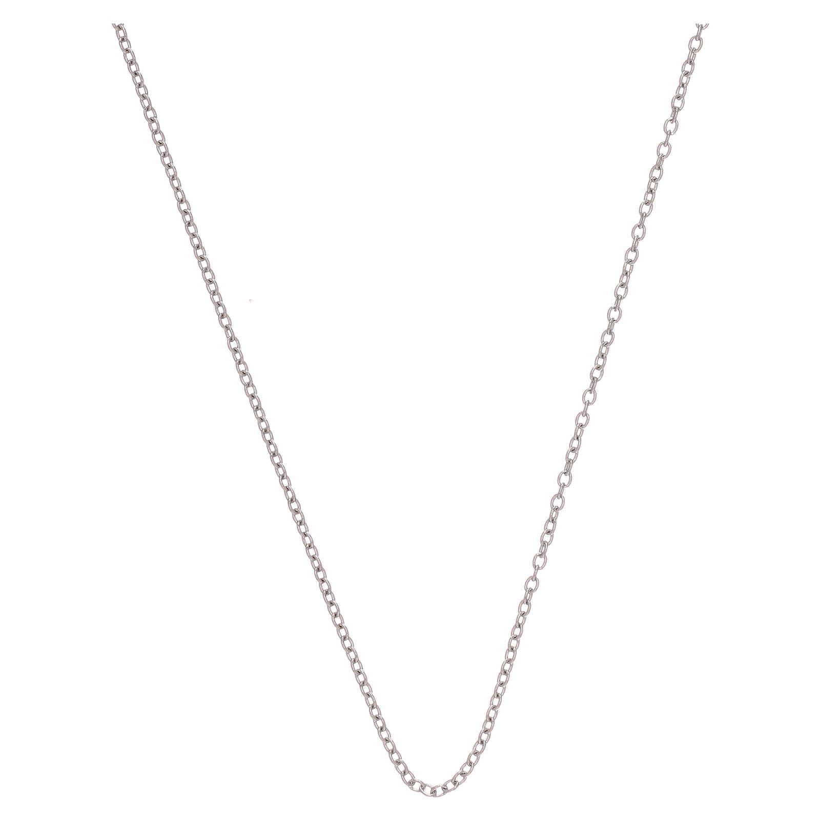 Cadena oro blanco 750/00 miniroló 50 cm 4