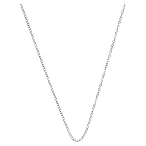 Cadena oro blanco 750/00 miniroló 50 cm 1
