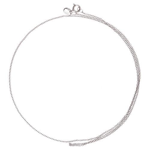 Cadena oro blanco 750/00 miniroló 50 cm 2