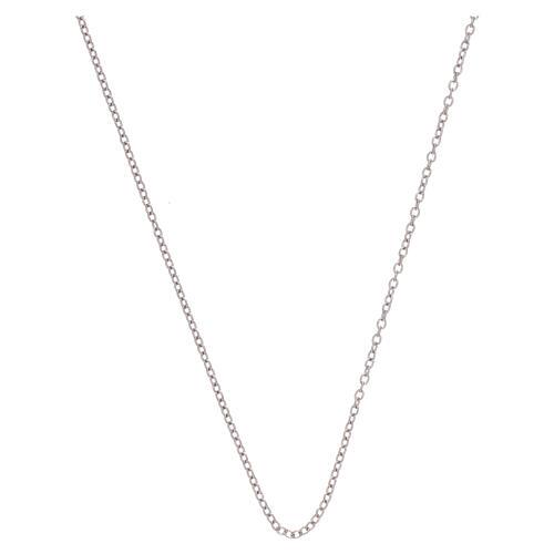 Rolo chain 750/00 white gold 19 3/4 in 1