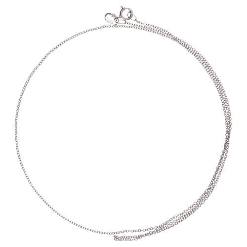 Rolo chain 750/00 white gold 19 3/4 in 2