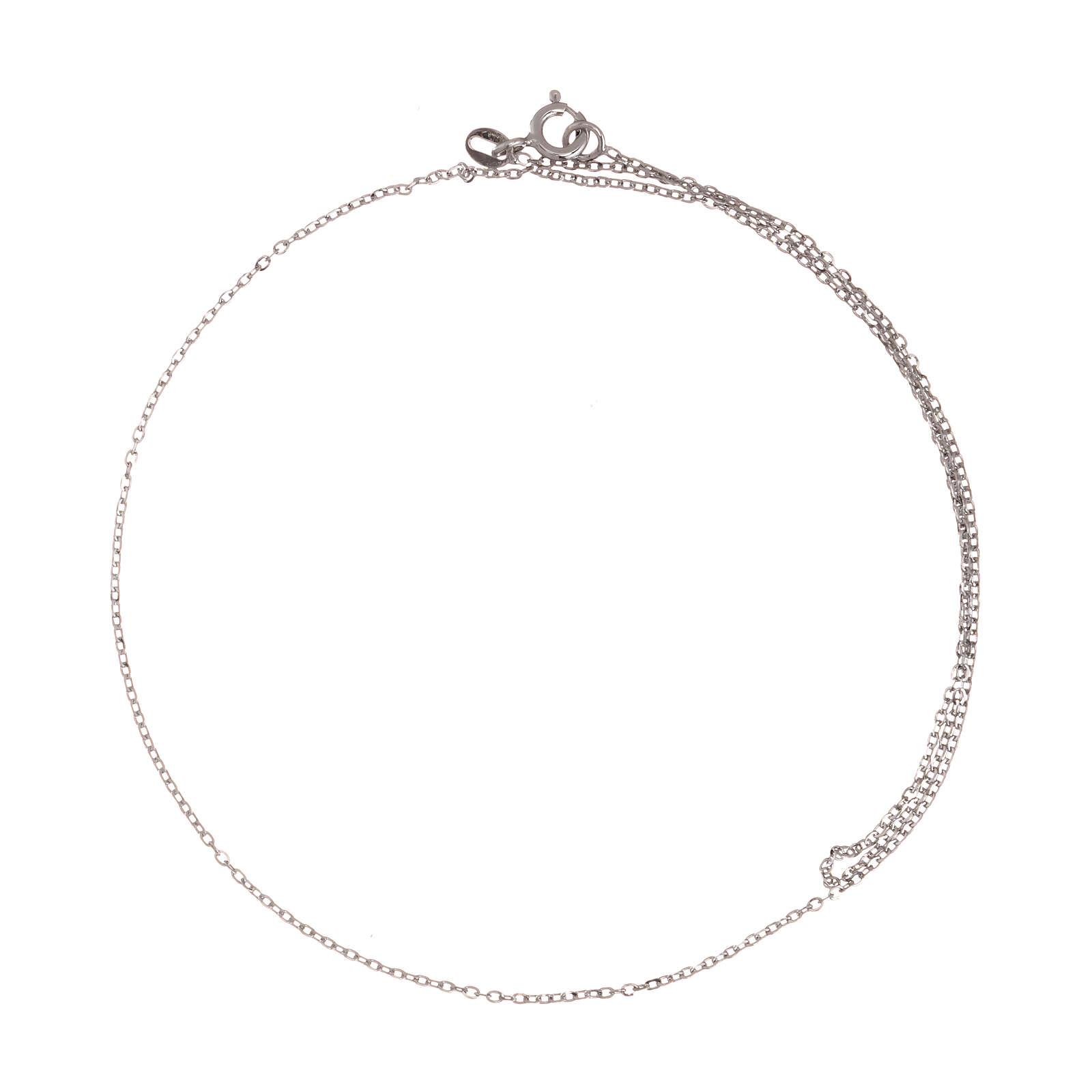 Cadena roló oro blanco 18 k diamantada 42 cm 4