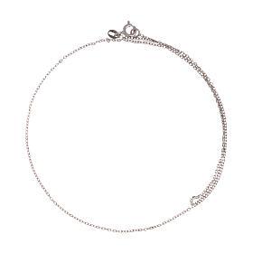 Cadena roló oro blanco 18 k diamantada 42 cm s2