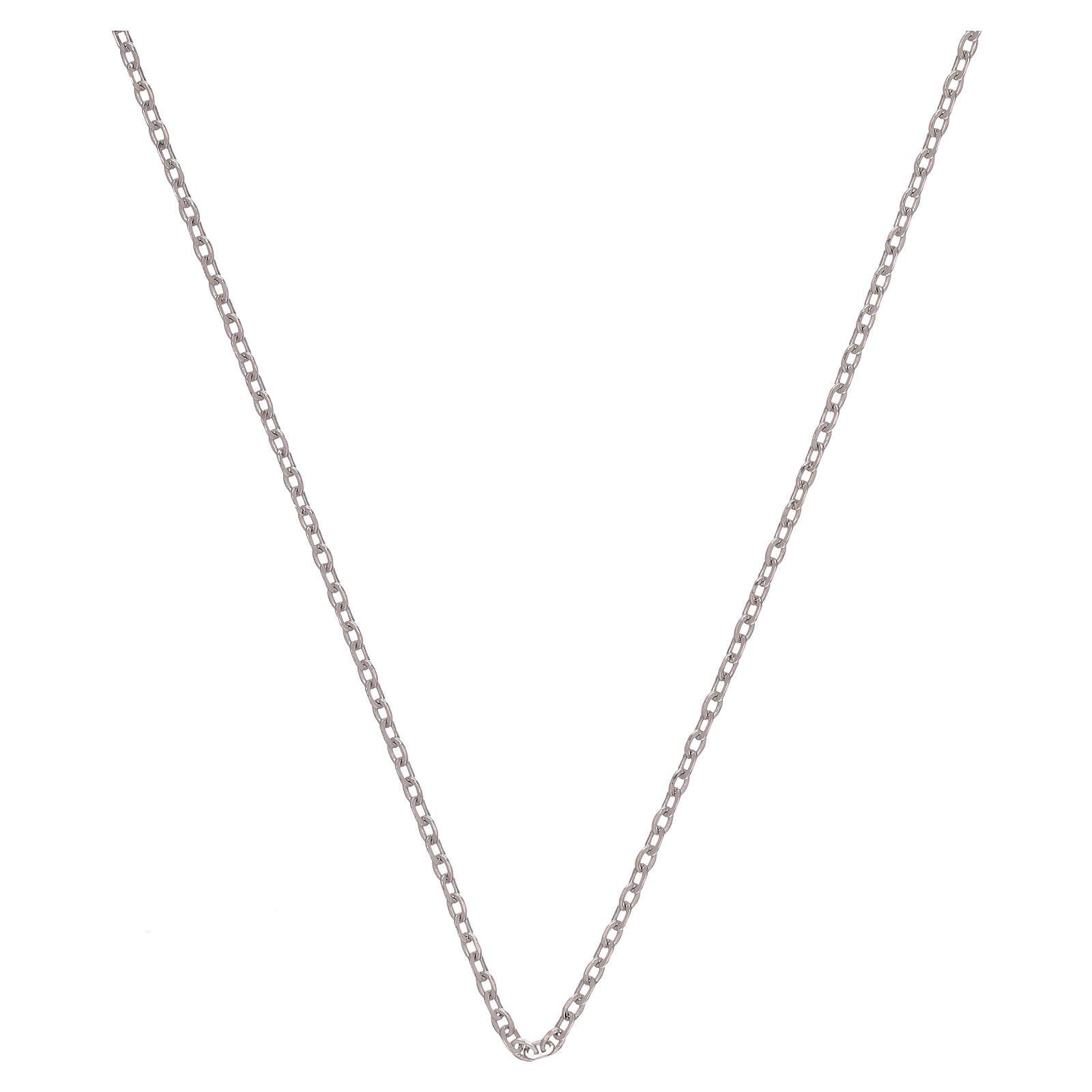 Catena rolò oro bianco 18 kt diamantata 42 cm 4