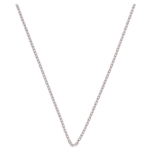 Catena rolò oro bianco 18 kt diamantata 42 cm 1