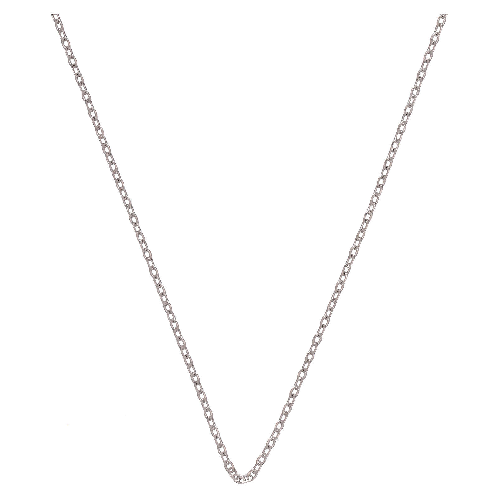 Corrente tipo Cartier ouro branco 18K diamantada 42 cm 4