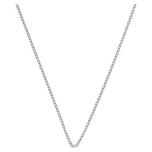 Corrente tipo Cartier ouro branco 18K diamantada 42 cm 1