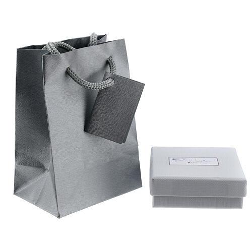 Corrente tipo Cartier ouro branco 18K diamantada 42 cm 3
