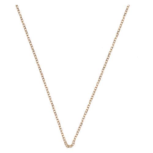 Chain, rolò diamond model, in 18K yellow gold 42 plus 3 cm 1