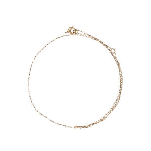 Cadena roló oro amarillo 18 k diamantada 42 cm más 3 cm 2