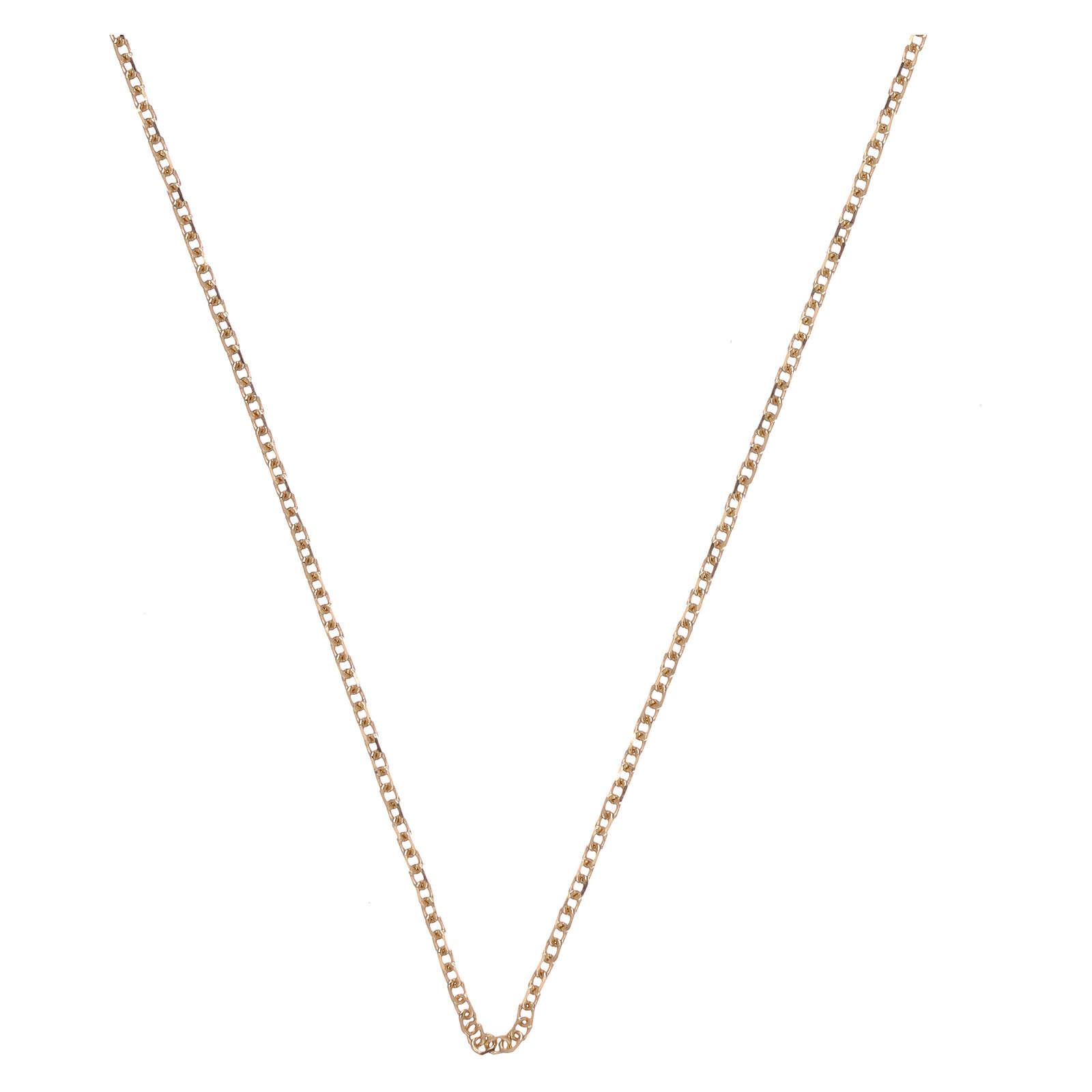 Catena rolò oro giallo 18 kt diamantata 42 più 3 cm 4