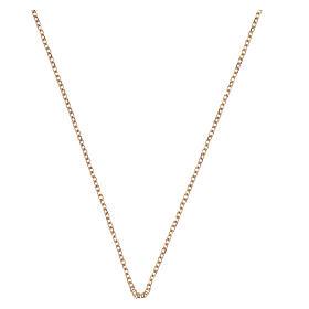 Catena rolò oro giallo 18 kt diamantata 42 più 3 cm s1