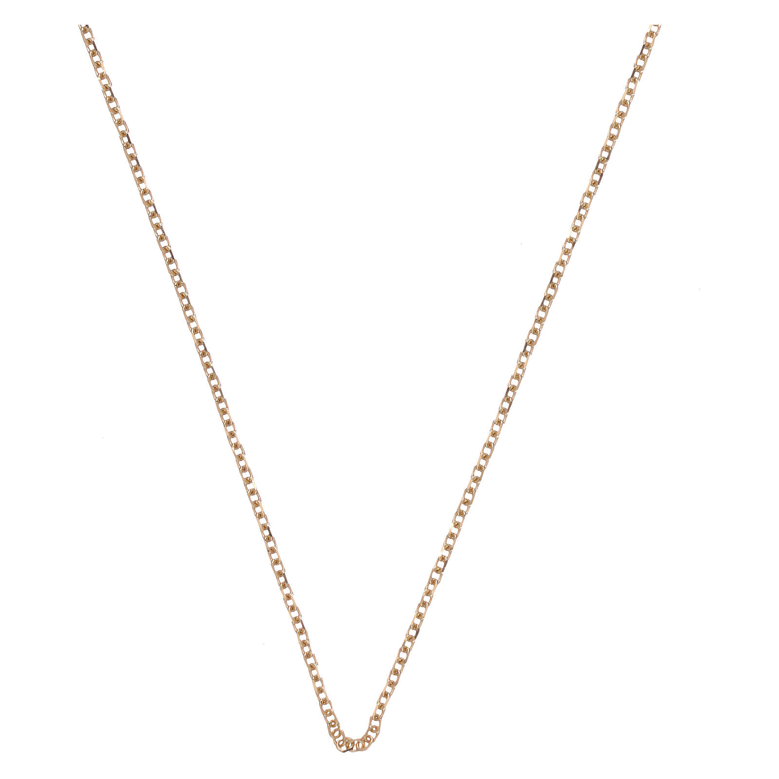 Rolo chain 18-carat yellow diamond-finished gold 16 1/2 + 1 in 4