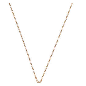 Rolo chain 18-carat yellow diamond-finished gold 16 1/2 + 1 in s1