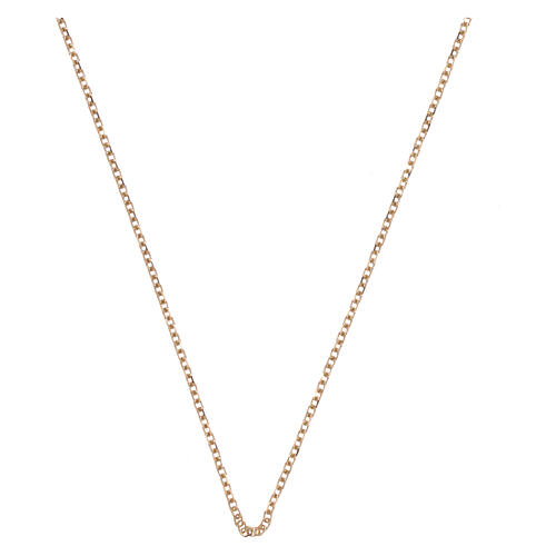 Rolo chain 18-carat yellow diamond-finished gold 16 1/2 + 1 in 1