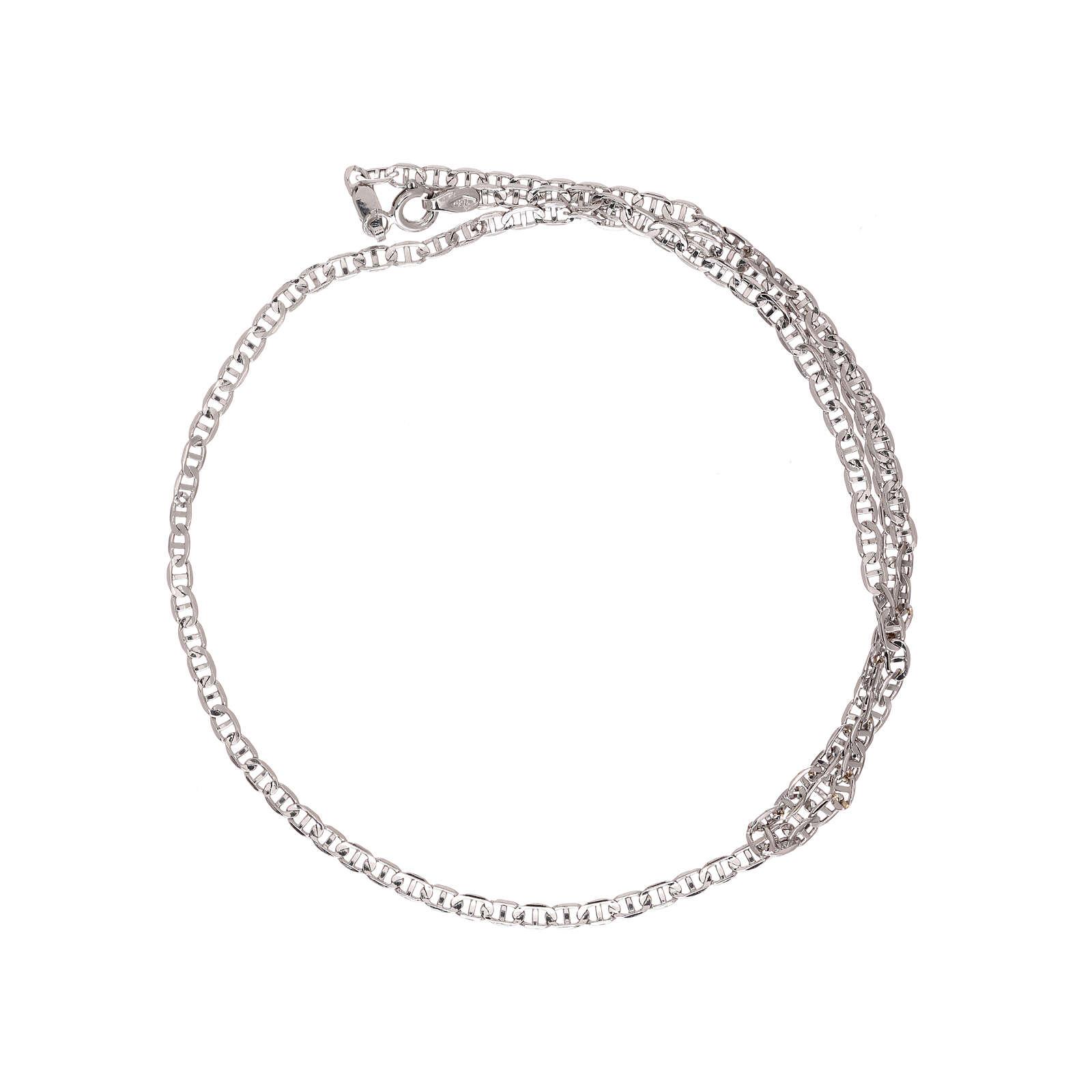 Corrente tipo Gucci ouro branco 750/00 45 cm 4