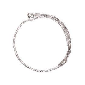 Corrente tipo Gucci ouro branco 750/00 45 cm s2