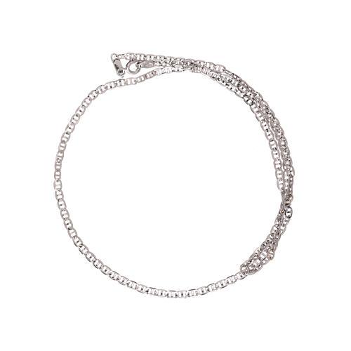 Corrente tipo Gucci ouro branco 750/00 45 cm 2