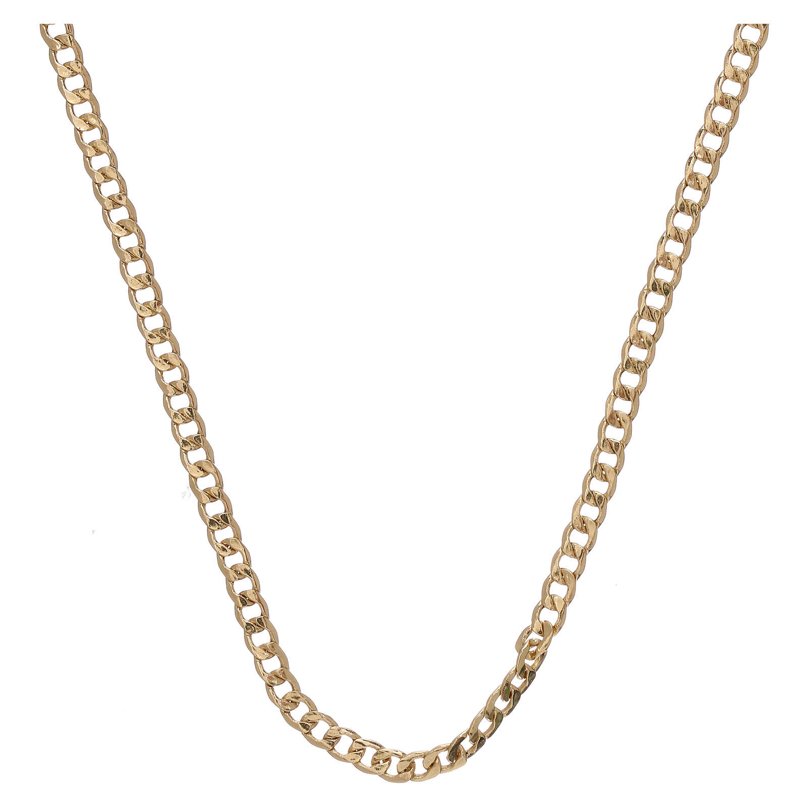 Empty curb chain 750/00 yellow gold 19 3/4 in 4