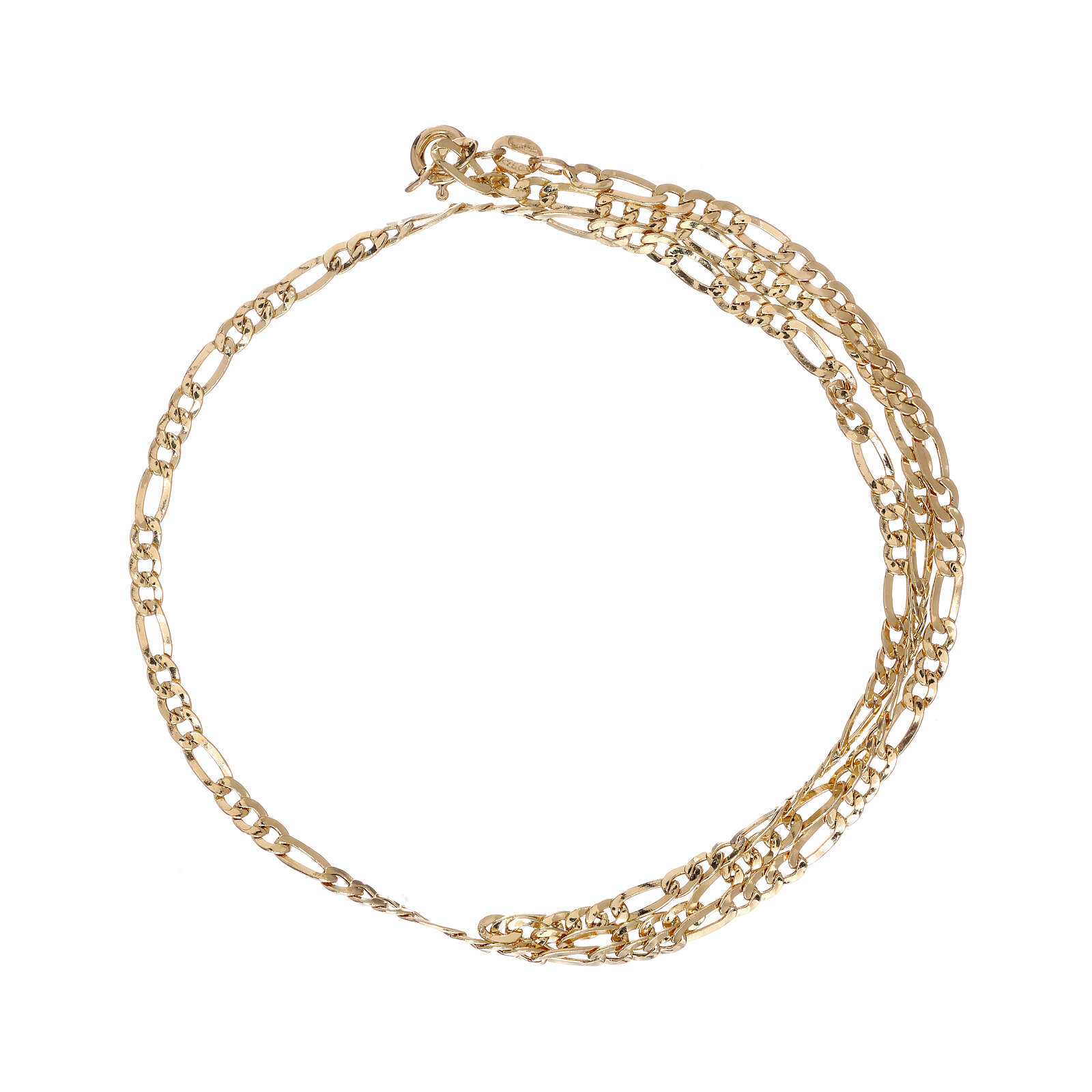 Chain, three plus one model, in 18K yellow gold 50 cm 4