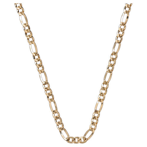 Chain, three plus one model, in 18K yellow gold 50 cm 1