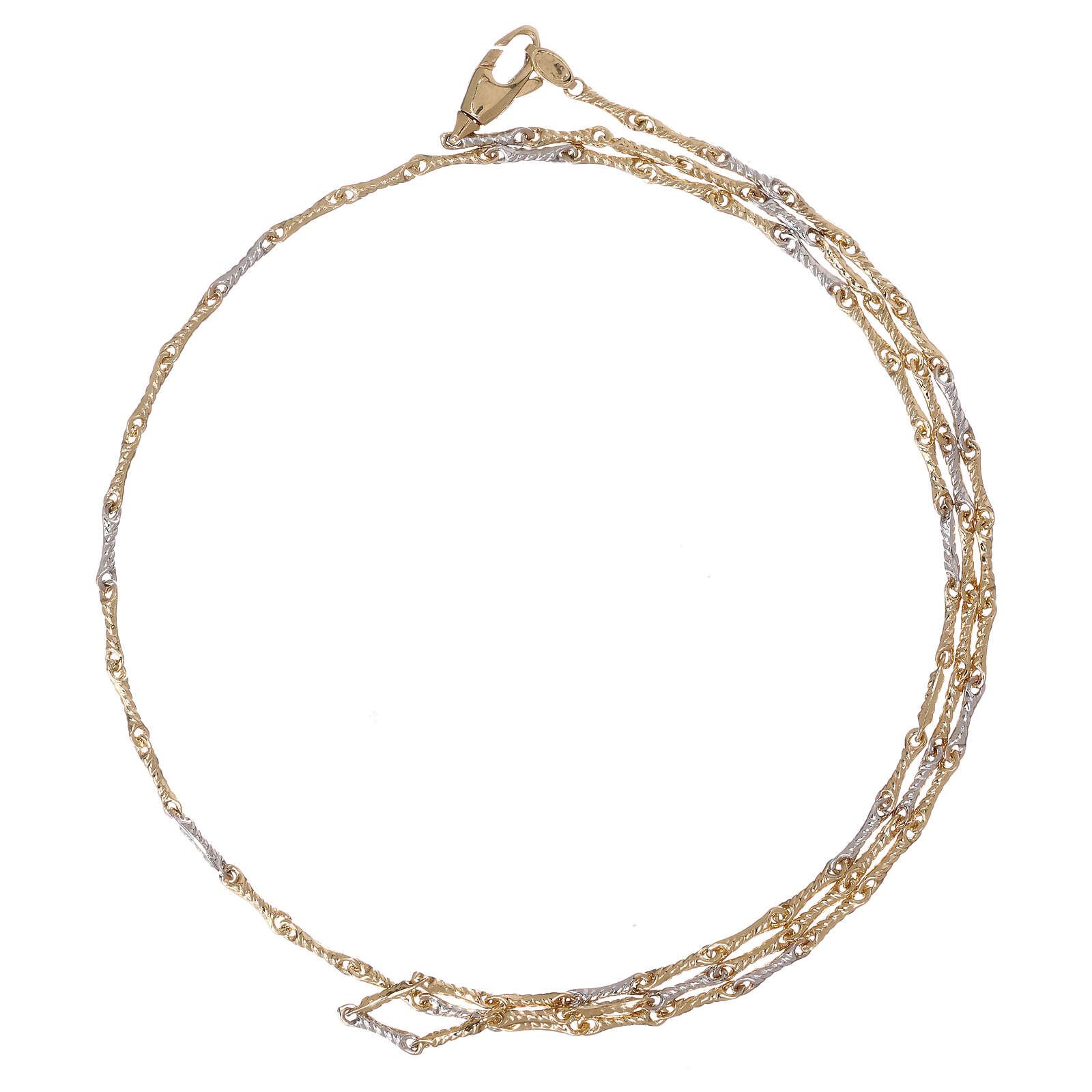 Catena chiodino ritorto oro giallo 18 carati 50 cm 4