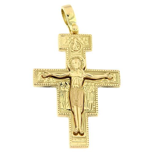 Colgante cruz San Damián oro 18 quilates 8,8 gr 1