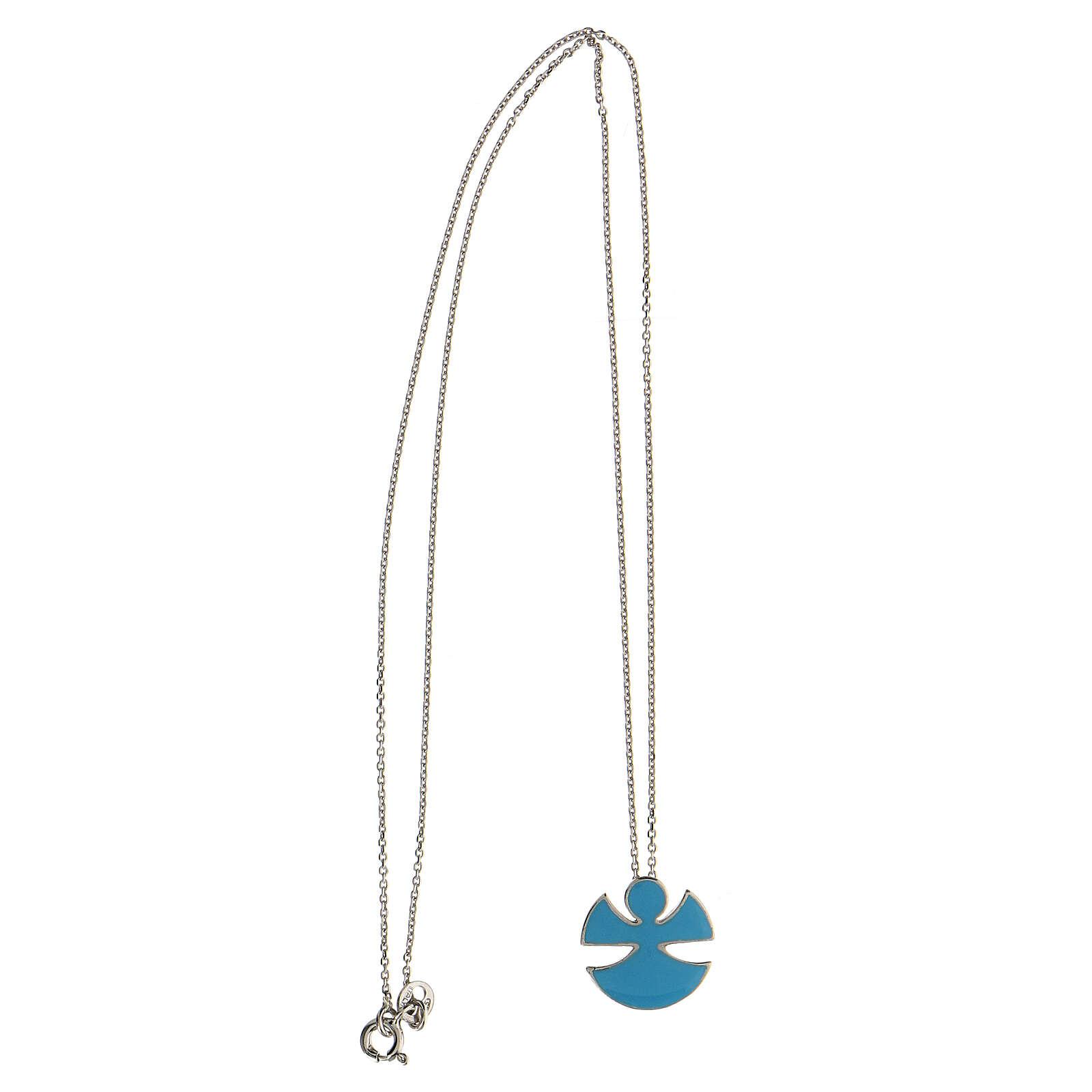 Collar plata 925 esmalte azul Ángel Alegría 4