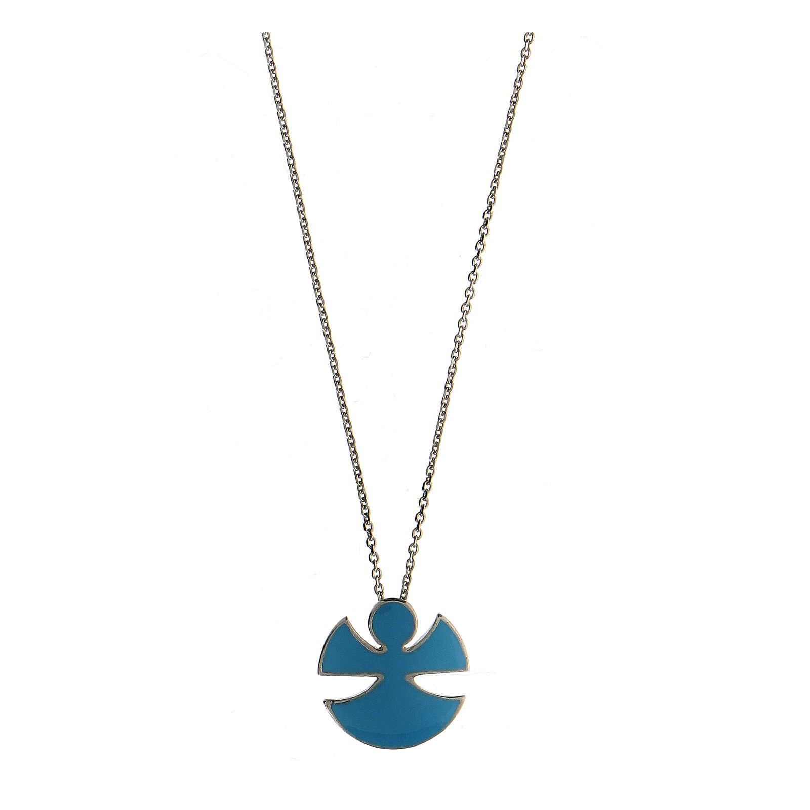 Collana argento 925 smalto azzurro Angelo Gioia 4