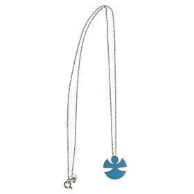 Collana argento 925 smalto azzurro Angelo Gioia s3