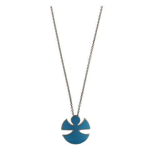 Collana argento 925 smalto azzurro Angelo Gioia 1