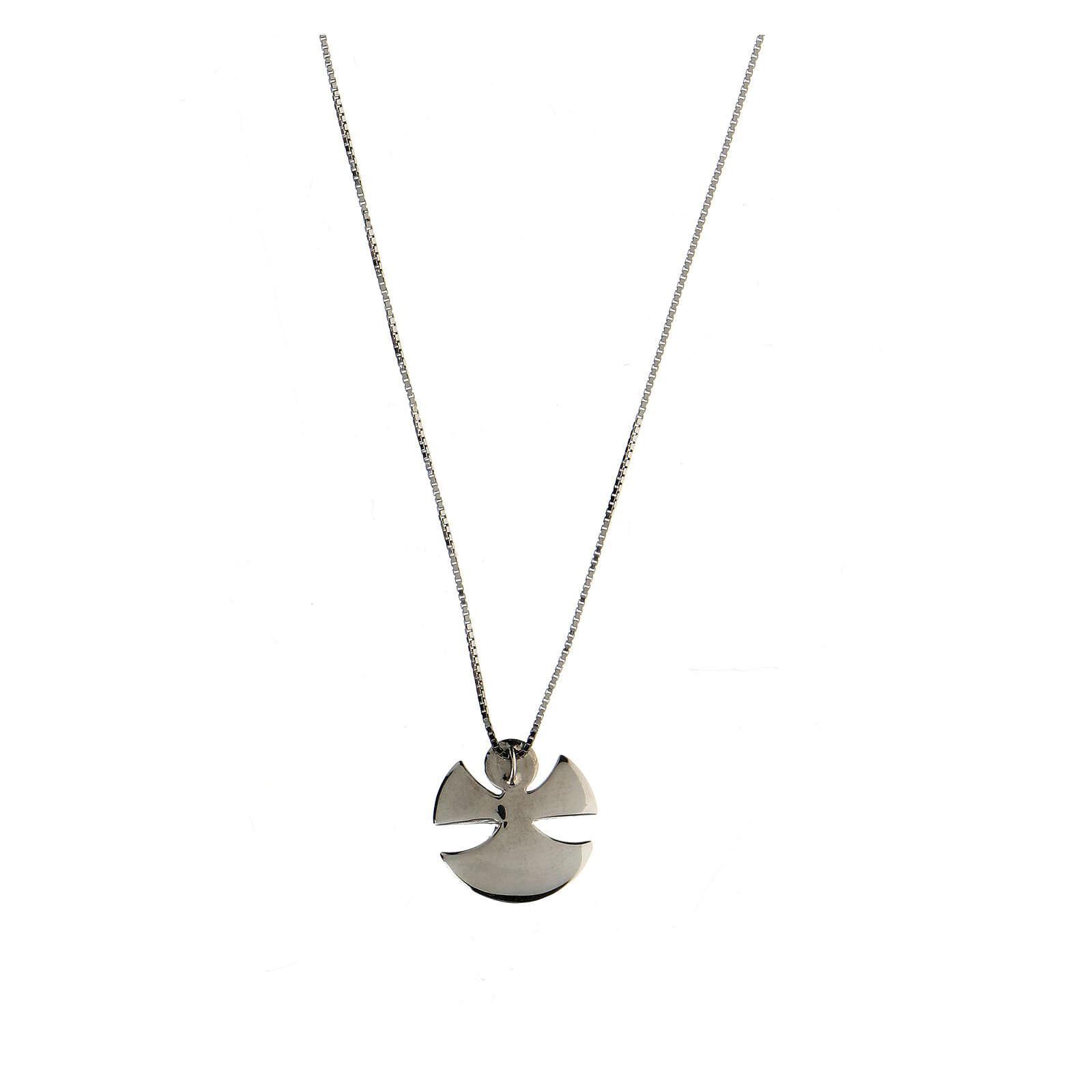 Collar Ángel plata 925 esmalte marfil 4