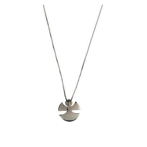 Collar Ángel plata 925 esmalte marfil 2