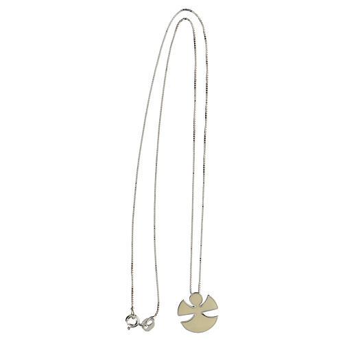 Collar Ángel plata 925 esmalte marfil 3