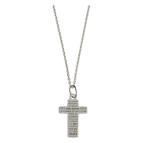 Collana croce Vero Amore argento 925 media 1