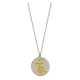 Double médaille Oceano di Pace argent 925 bicolore s1