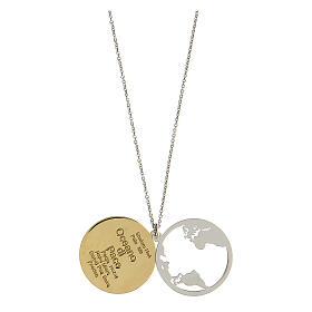 Double médaille Oceano di Pace argent 925 bicolore s2