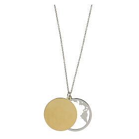 Double médaille Oceano di Pace argent 925 bicolore s4