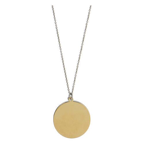 Double médaille Oceano di Pace argent 925 bicolore 3