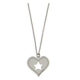 Collar corazón estrella plata 925 s1