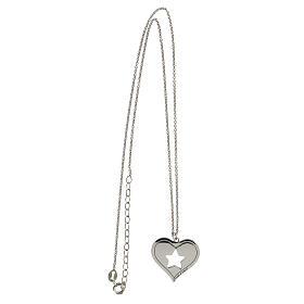 Collar corazón estrella plata 925 s3