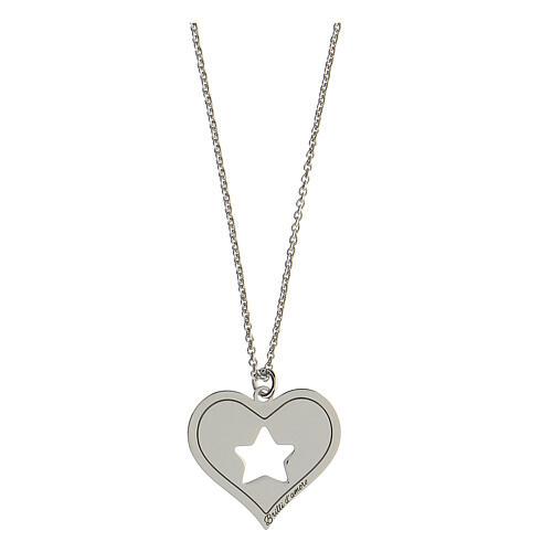 Collar corazón estrella plata 925 1
