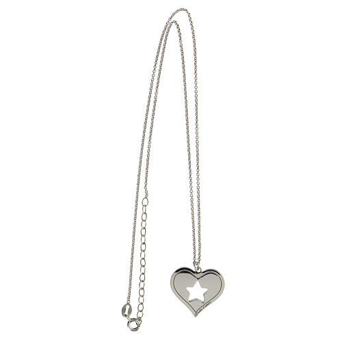 Collar corazón estrella plata 925 3