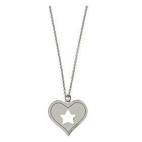 Collana cuore stella argento 925 s1
