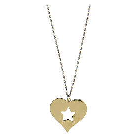 Collar Brilli Amore corazón estrella plata 925 dorada s2