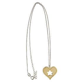 Collar Brilli Amore corazón estrella plata 925 dorada s3