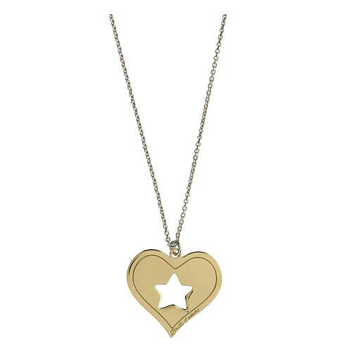 Collana Brilli Amore cuore stella argento 925 dorato 1