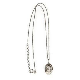 Collana San Pio ovale argento 925 s3